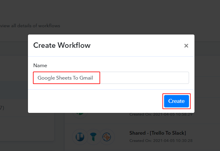 Workflow for Google Sheets to Gmail Integration