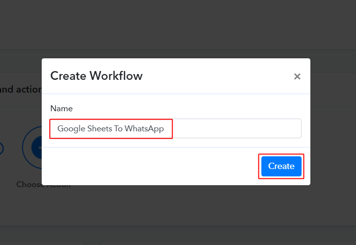 Workflow for Google Sheets to WhatsApp Integration
