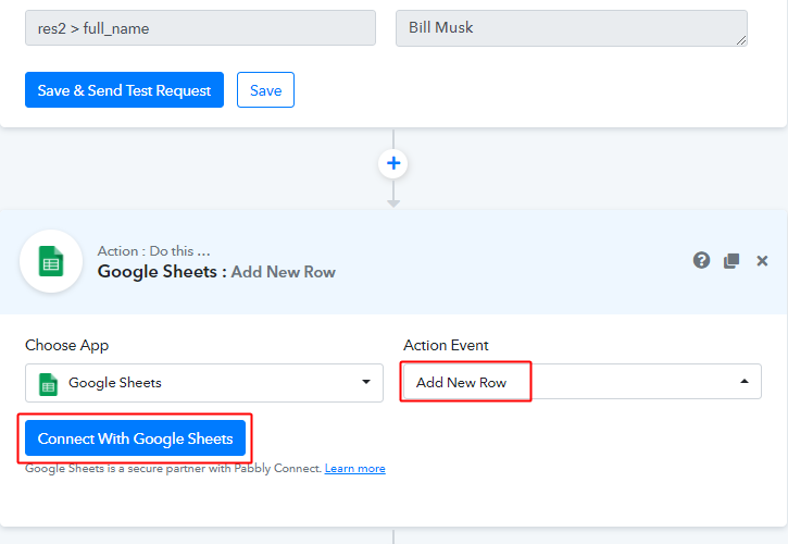 select_event_and_connect_with_google_sheets_for_facebook_to_google_sheets