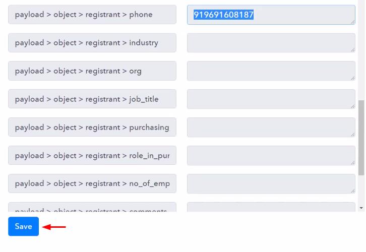 Check & Save Trigger Response to Send Zoom Meeting Invite via SMS