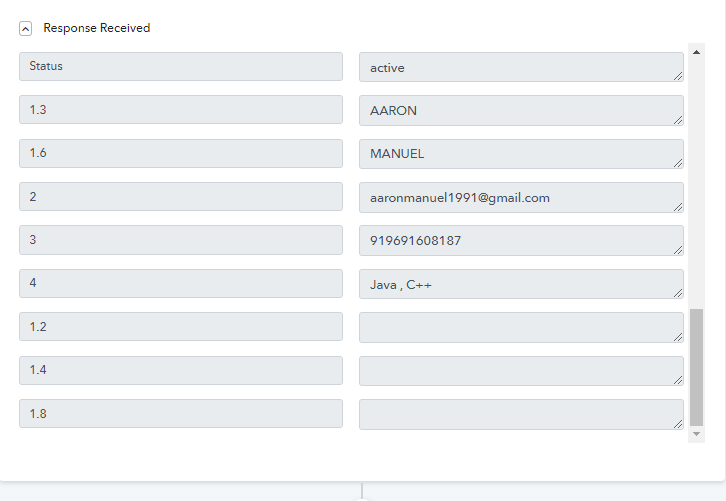 Check & Save the Trigger API Response to Send WhatsApp Message on New Form Submission