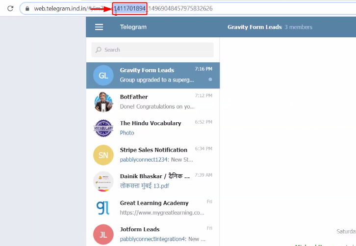 Copy Chat ID to Send Telegram Messages for New Form Submissions