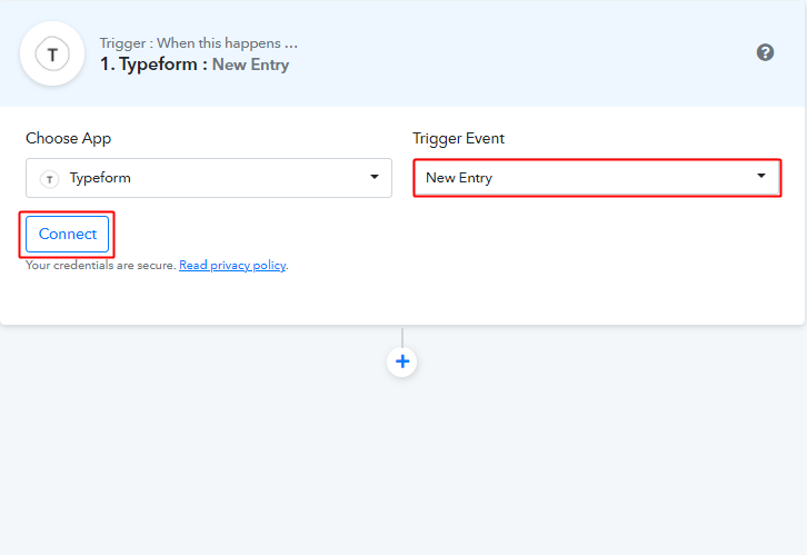 Select Trigger Event & Connect to Send Telegram Messages on Form Submissions
