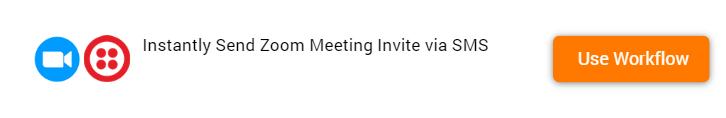 Send Zoom Meeting Invite via SMS