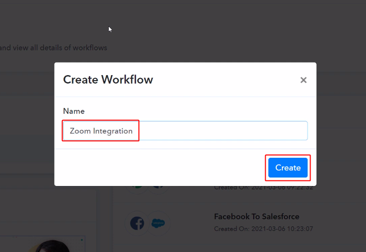 Workflow for Zoom to Google Sheets Integration